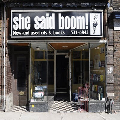 She Said Boom Record Store in Toronto