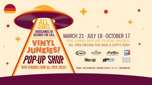Vinyl Junkies Pop-Up Shop (July Edition)